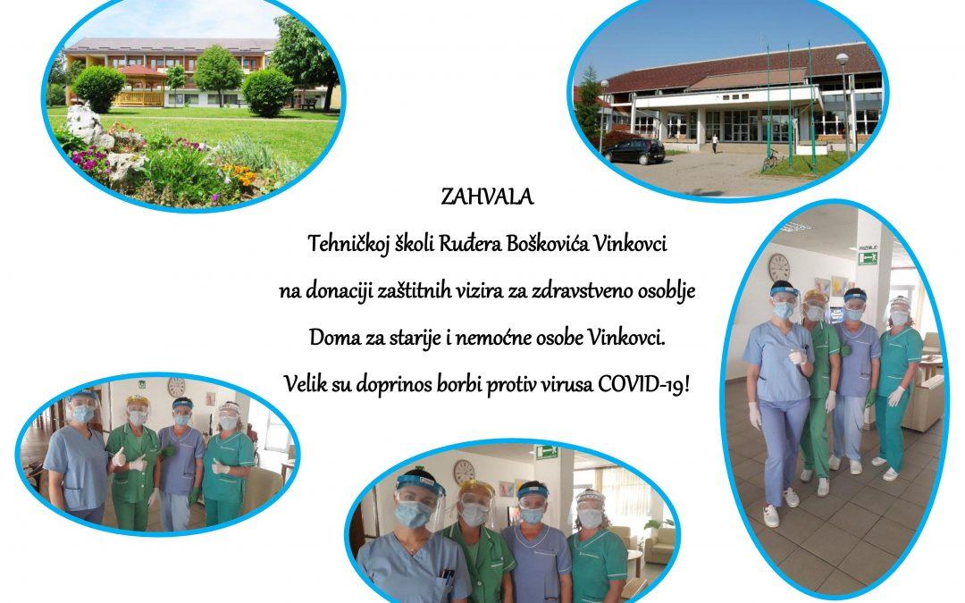 Zahvala Tehničkoj školi Ruđera Boškovića Vinkovci